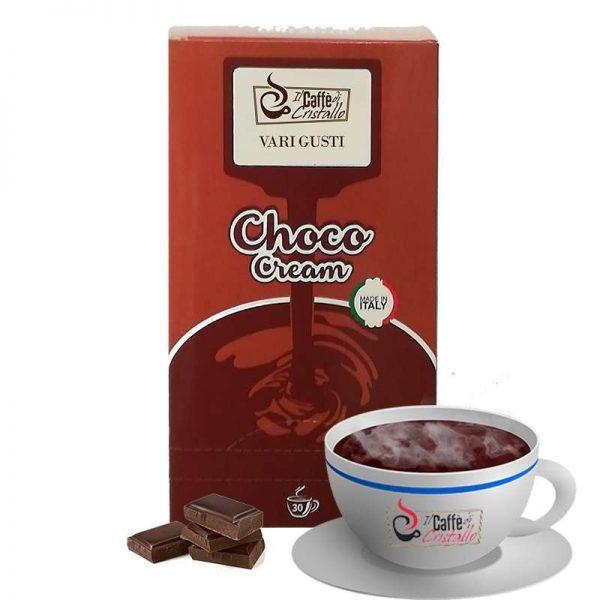 Cioccolato solubile Monodose CLASSICO BIANCO LATTE GIANDUIA NOCCIOLA FONDENTE DELIZIA SICILIANA COCCO ARANCIA E CARAMEL