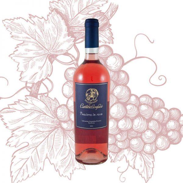 Vino rosè Pensiero in rosa Cantine Bonifacio
